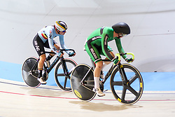 March 2, 2018 - Apeldoorn, Netherlands - Lotte Kopecky (BEL),Lydia Boylan (IRL)  compete during the women's omnium during the UCI Track Cycling World Championships in Apeldoorn on March 2, 2018.  (Photo by Foto Olimpik/NurPhoto) (Credit Image: © Foto Olimpik/NurPhoto via ZUMA Press)