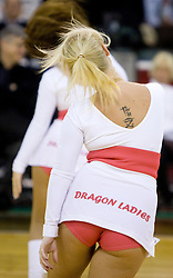 Cheerleaders Dragon Ladies at Euroleague basketball match between KK Union Olimpija, Ljubljana and CSKA Moscow, on January 7, 2010 in Arena Tivoli, Ljubljana, Slovenia. CSKA defeated Olimpija 80:77 after overtime. (Photo by Vid Ponikvar / Sportida)