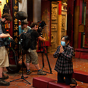 Canadian Crew Filming 'Spirit Medium' in Tainan City, Taiwan
