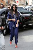Selena Gomez visits Recording stuido in Paris