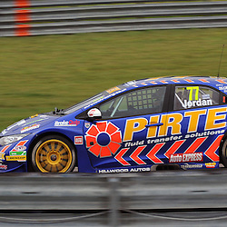 Andrew Jordan, British Pirtek Racing(Honda Civic).<br /> Taken during Round 8 (Race 1) of the MSA British Touring Car Championship at the Rockingham Circuit, Northamptonshire on the 15th September 2013.<br /> WAYNE NEAL | SPORTPIX.ORG.UK