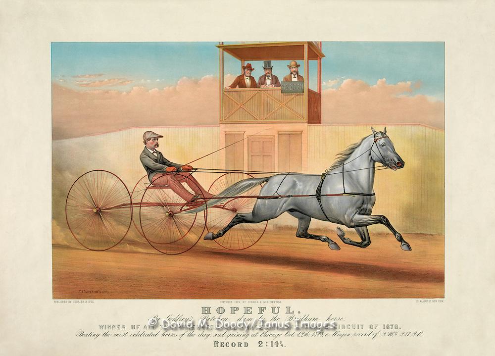 Vintage Illustration: Hopeful: by Godfrey's Patchen, - Currier & Ives-Hopeful.