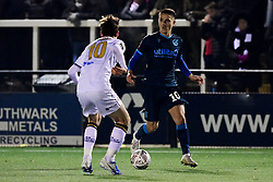 Tom Nichols of Bristol Rovers is marked by Billy Bingham of Bromley - Mandatory by-line: Ryan Hiscott/JMP - 19/11/2019 - FOOTBALL - Hayes Lane - Bromley, England - Bromley v Bristol Rovers - Emirates FA Cup first round replay