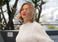 Actress Léa Seydoux at the It's Only the End of the World (Juste La Fin Du Monde) film photo call at the 69th Cannes Film Festival Thursday 19th May 2016, Cannes, France. Photography: Doreen Kennedy