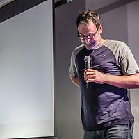 Nederland,Utrecht, 8 september 2016.<br /> Diederik Stapel spreekt omtrent zijn ervaringen bij de fucked up-meeting in Utrecht bij Vechtclub XL.<br /> Diederik Alexander Stapel is een voormalig Tilburgs hoogleraar sociale psychologie, die berucht werd als één van de grootste wetenschapsfraudeurs in de geschiedenis. De New York Times noemde hem the biggest con man in academic science.<br /> <br /> Netherlands, Utrecht, September 8th, 2016.<br /> Diederik Stapel talks about his experiences at the fucked up meeting in Utrecht at Fight Club XL. Alexander Diederik Stapel was a former professor of social psychology from Tilburg. He is notorious for being one of the biggest scientific frauds in history. The New York Times called him the biggest con man in academic science.<br /> <br /> Foto: Jean-Pierre Jans
