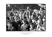 Christy Ring is shouldered off the pitch after Cork win the All Ireland Hurling Final at Croke Park, Dublin.<br />