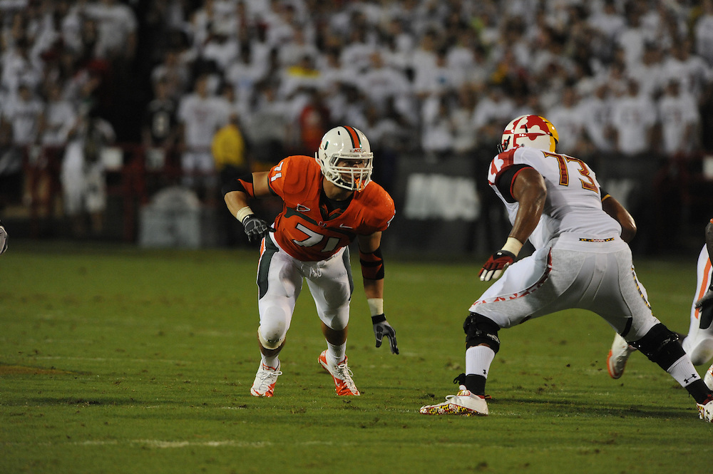 2011 Miami Hurricanes Football @ Maryland<br /> <br /> Anthony Chickillo