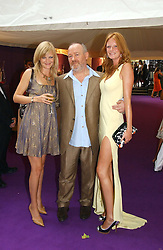 Left to right, ALEXIA INGE, VINCE POWER and  model OLIVIA INGE at theThe Summer Ball in Berkeley Square , Londin W1 in aid of the Prince's Trust on 6th July 2006.<br />
