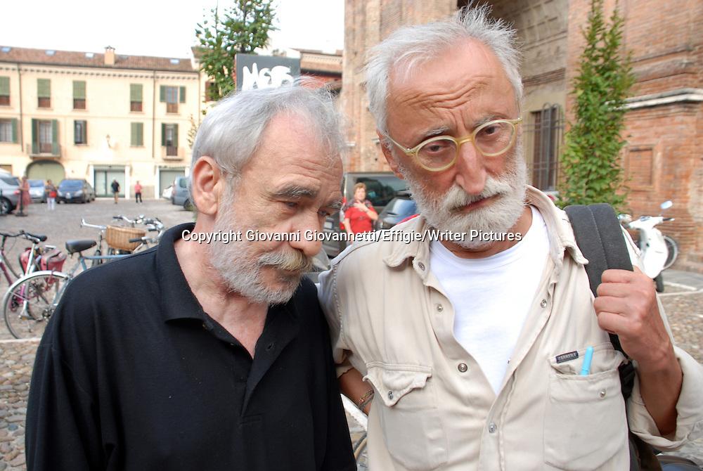 Ivano Ferrari &amp; Antonio Moresco, Festivaletteratura, Mantova <br /> 08 September 2013<br /> <br /> Photograph by Giovanni Giovannetti/Effigie/Writer Pictures <br /> <br /> NO ITALY, NO AGENCY SALES