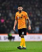 Ruben Neves (8) of Wolverhampton Wanderers during the Premier League match between Bournemouth and Wolverhampton Wanderers at the Vitality Stadium, Bournemouth, England on 23 November 2019.