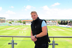 Lewis Moody poses for a photo overlooking the County ground.  - Mandatory by-line: Alex Davidson/JMP - 13/07/2016 - CRICKET - Cooper Associates County Ground - Taunton, United Kingdom - Somerset v Middlesex - Day 4 - Specsavers County Championship Division One