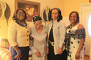 From L to R: Linda Nwoke, retired educator and longtime friend of Ruby Pope; Ruby Lea Pope, who will turn 104 years old on April 9, is one of the oldest living alumna of HISD; Xandra Ward, Pope's niece; and Mattie Lewis, a Kindergarten teacher at Dogan Elementary and longtime friend of Pope.