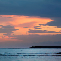 Dawn Sky over the North Sea Amble by the Sea Northumberland Coast England