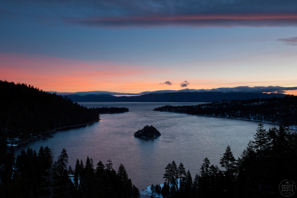 """Emerald Bay Sunrise 8"" - This sunrise was photographed from the world famous Emerald Bay in Lake Tahoe, CA."
