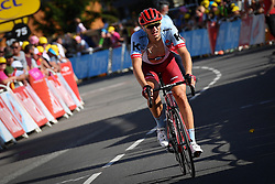 July 18, 2018 - Le Grand Bornand, FRANCE - German Marcel Kittel of Team Katusha-Alpecin crosses the finish line after the time limit of the eleventh stage in the 105th edition of the Tour de France cycling race, 108.5 km from ALbertville to La Rosiere Espace San Bernardo, France, Wednesday 18 July 2018. This year's Tour de France takes place from July 7th to July 29th. BELGA PHOTO DAVID STOCKMAN (Credit Image: © David Stockman/Belga via ZUMA Press)