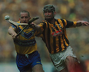 Clare's David Hoey and Kilkenny's Martin Commerford in the 2002 final.