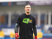 Luton Town goalkeeper warming up before the game during the EFL Sky Bet League 2 match between Luton Town and Barnet at Kenilworth Road, Luton, England on 24 March 2018. Picture by Ian  Muir.