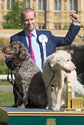 MPs and members of the House of Lords bring their pooches to Parliament as they compete to be crowned The Dogs' Trust and The Kennel Club's Westminster Dog Of The Year. PICTURED:Winner Jonathan Reynolds MP (Labour) Stalybridge and Hyde with his two Labradoodles Clinton and Kennedy.