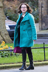 Downing Street, London, February 28th 2017. Lord Privy Seal and Leader of the House of Lords Baroness Natalie Evans  attends the weekly cabinet meeting at 10 Downing Street in London.