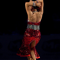 23 January 2010: Anna Mashchyts performs during the Masters Bercy Latin and Ballroom (standard) Dancesport Championship 2010, at Palais Omnisports Paris Bercy, in Paris, France. .