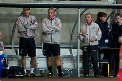 SWANSEA, ENGLAND - Friday, September 4, 2009: Wales' manager Brian Flynn during the UEFA Under 21 Championship Qualifying Group 3 match against Italy at the Liberty Stadium. (Photo by David Rawcliffe/Propaganda)