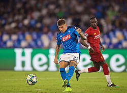 NAPLES, ITALY - Tuesday, September 17, 2019: SSC Napoli's Giovanni Di Lorenzo during the UEFA Champions League Group E match between SSC Napoli and Liverpool FC at the Studio San Paolo. (Pic by David Rawcliffe/Propaganda)