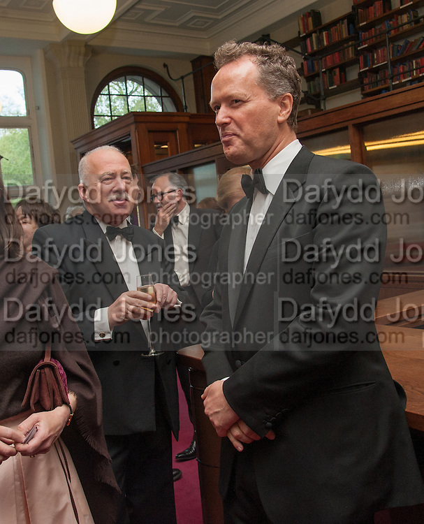 LADY SARAH CHATTO; PHILIP MANSEL; TEDDY ST. AUBYN, The London Library Annual  Life in Literature Award 2013 sponsored by Heywood Hill. The London Library Annual Literary dinner. London Library. St. james's Sq. London. 16 May 2013.
