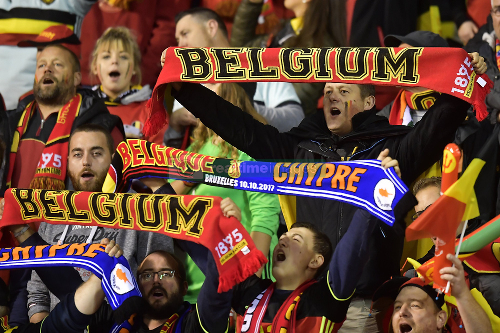 October 10, 2017 - Bruxelles, Belgique - Supporters fans of Belgium (Credit Image: © Panoramic via ZUMA Press)