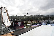 Alex Bellemare - Ski Practice at Air & Style LA at the Rose Bowl in Pasadena, CA. ©Brett Wilhelm/ESPN