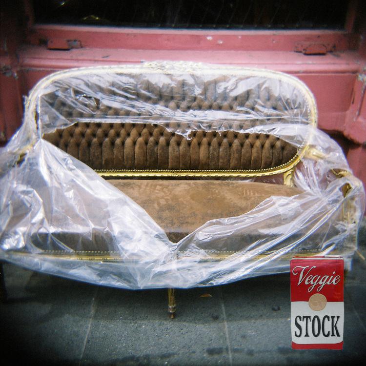 A sofa for sale on Capel Street, Dublin, Ireland, 2009.