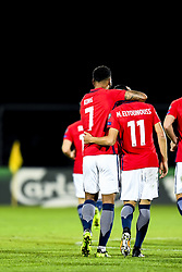 October 5, 2017 - San Marino, SAN MARINO - 171005 Joshua King and Mohamed Elyounoussi of Norway  celebrate 5-0 during the FIFA World Cup Qualifier match between San Marino and Norway on October 5, 2017 in San Marino. .Photo: Fredrik Varfjell / BILDBYRN / kod FV / 150027 (Credit Image: © Fredrik Varfjell/Bildbyran via ZUMA Wire)