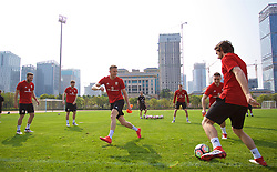 NANNING, CHINA - Wednesday, March 21, 2018: Wales' Andy King during a training session at the Guangxi Sports Centre ahead of the opening 2018 Gree China Cup International Football Championship match against China. (Pic by David Rawcliffe/Propaganda)