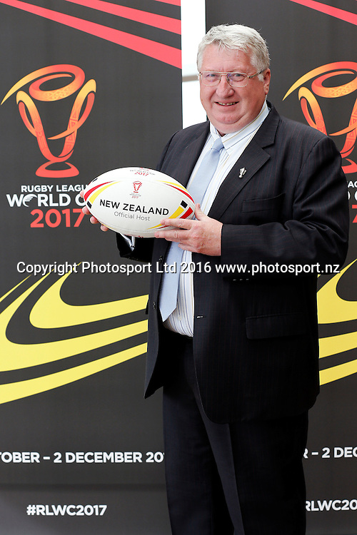 CEO of Rugby League International Federation David Collier, Rugby League World Cup 2017 Draw Announcement, The Cloud, Auckland City, New Zealand. 19 July 2016. Copyright Image: William Booth / www.photosport.nz