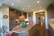 Marble kitchen worktop in Palm Springs interior