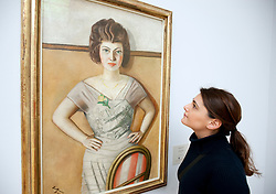 The Romanian Woman by Max Beckmann at the Kunsthalle art gallery in Hamburg Germany