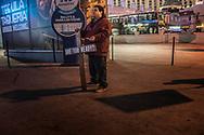Man Christian evangelizing on the Las Vegas Strip.  Nevada.