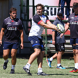 Etienne Oosthuizen during The Cell C Sharks training session at Growthpoint Kings Park in Durban, South Africa. 21st March 2017(Photo by Steve Haag)<br /> <br /> images for social media must have consent from Steve Haag