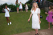 SAMMY AKIWUMI; NATASHA GILBERT, Chucs Dive & Mountain Shop charity Swim Party: Lido at The Serpentine. London. 4 July 2011. <br /> <br />  , -DO NOT ARCHIVE-© Copyright Photograph by Dafydd Jones. 248 Clapham Rd. London SW9 0PZ. Tel 0207 820 0771. www.dafjones.com.