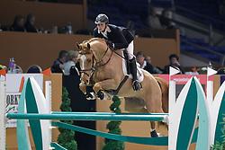 Maher Ben (GBR) - Quit Easy 4<br /> Jumping Indoor Zuidlaren 2010<br /> © Hippo Foto - Leanjo de Koster