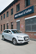 Audi Q7 at the Man-Roland plant in Augusburg, Germany, where the first diesel engine was produced.