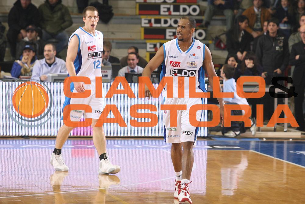 DESCRIZIONE : Napoli Lega A1 2007-08 Eldo Napoli Upim Fortitudo Bologna <br /> GIOCATORE : Jamel Thomas <br /> SQUADRA : Eldo Napoli <br /> EVENTO : Campionato Lega A1 2007-2008 <br /> GARA : Eldo Napoli Upim Fortitudo Bologna <br /> DATA : 22/12/2007 <br /> CATEGORIA : Esultanza <br /> SPORT : Pallacanestro <br /> AUTORE : Agenzia Ciamillo-Castoria/G.Ciamillo