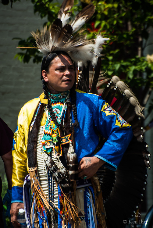 Native American in full regalia, Traverse City, MI