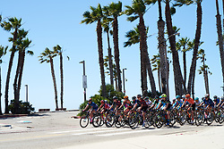 The peloton head out of Ventura at Amgen Tour of California Women's Race empowered with SRAM 2019 - Stage 1, a 96.5 km road race in Ventura, United States on May 16, 2019. Photo by Sean Robinson/velofocus.com