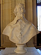 Cardinal Richelieu Sculpture by Gian Lorenzo Bernini. Circa 1641 AD. Made from Marble. In the baroque style.