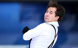 03.12.2015, Dom Sportova, Zagreb, CRO, ISU, Golden Spin of Zagreb, Kurzprogramm Herren, im Bild Abzal Rakimgaliev, Kazahstan // during the 48th Golden Spin of Zagreb 2015 Male Short Program of ISU at the Dom Sportova in Zagreb, Croatia on 2015/12/03. EXPA Pictures © 2015, PhotoCredit: EXPA/ Pixsell/ Igor Kralj<br /> <br /> *****ATTENTION - for AUT, SLO, SUI, SWE, ITA, FRA only*****