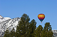 Early Winter morning balloon flight with Mammoth Mtn. as a backdrop