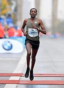 Guye Adola (ETH) places second in 2:03.46 in the 44th Berlin Marathon in Berlin, Germany on Sunday, September 24, 2017. (Jiro Mochizuki/Image of Sport)