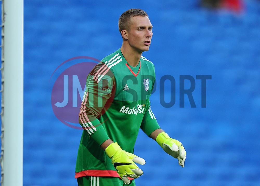 Simon Moore of Cardiff City  - Mandatory by-line: Joe Meredith/JMP - 07966386802 - 28/07/2015 - SPORT - FOOTBALL - Cardiff,Wales - Cardiff City Stadium - Cardiff City v Watford - Pre-Season Friendly