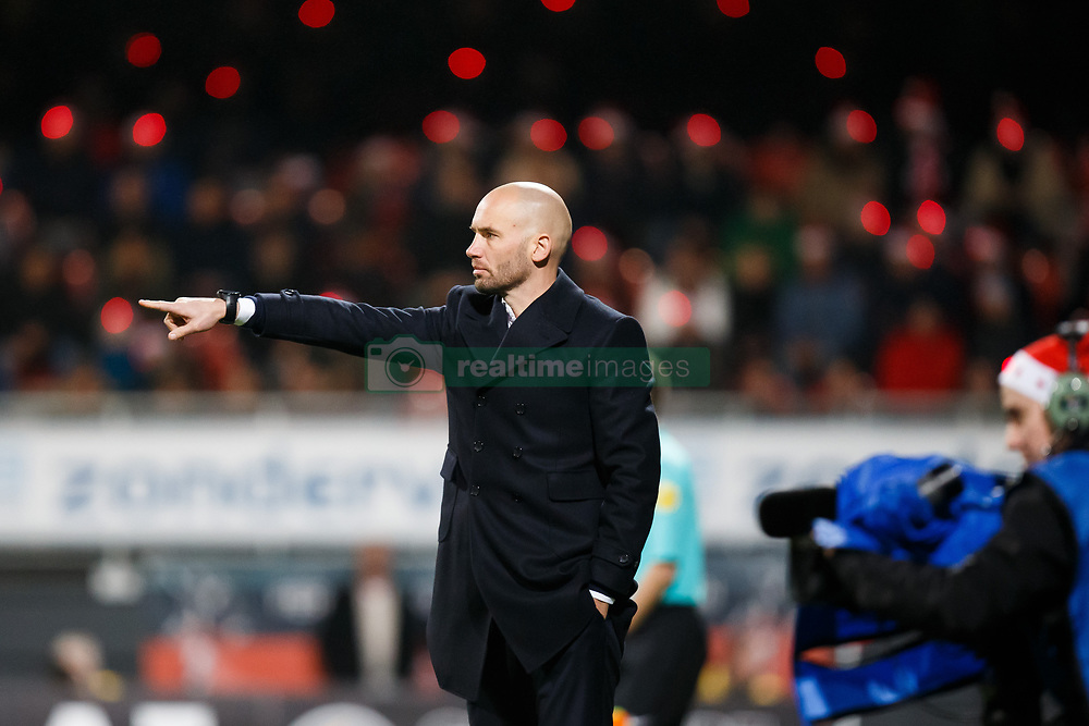 coach Mitchell van der Gaag of Excelsior during the Dutch Eredivisie match between sbv Excelsior Rotterdam and FC Twente at Van Donge & De Roo stadium on December 23, 2017 in Rotterdam, The Netherlands