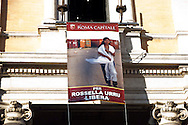 Roma 2 Marzo 2012.Esposta in Campidoglio la foto di Rossella Urru,la cooperante di 29 anni rapita da oltre quattro mesi in un campo profughi saharawi a Tindouf  nel sud dell'Algeria in un campo profughi Saharawi, assieme ad altri due volontari spagnoli. per mano di  terroristi